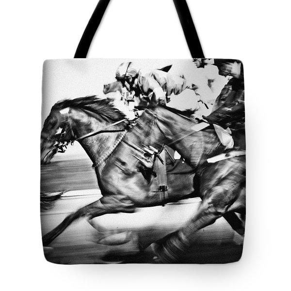 Racing Horses Tote Bag