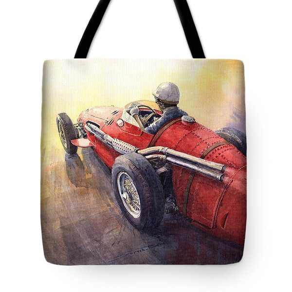 Racing Light Maserati 250 F Tote Bag by Yuriy  Shevchuk
