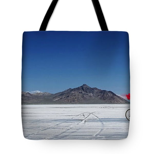 Racing On The Bonneville Salt Flats Tote Bag