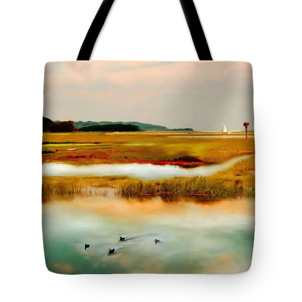 Racing The Tide Tote Bag