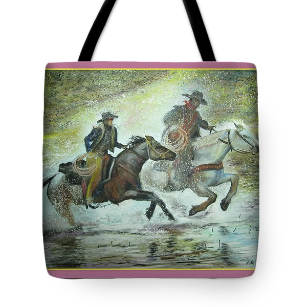 Racing Through The Water Tote Bag