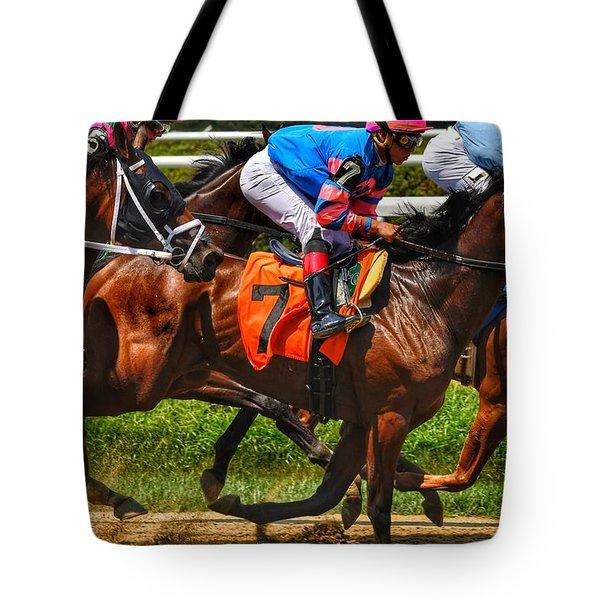 Racing Tight Tote Bag