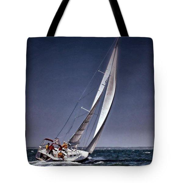 Racing To Nantucket Tote Bag