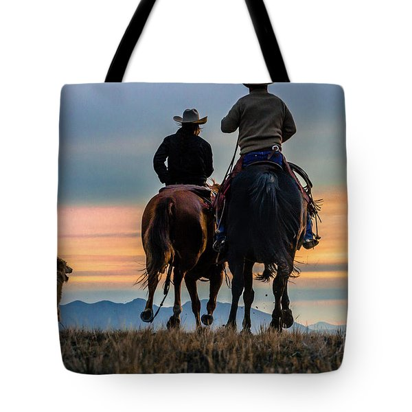 Racing To The Sun Wild West Photography Art By Kaylyn Franks Tote Bag