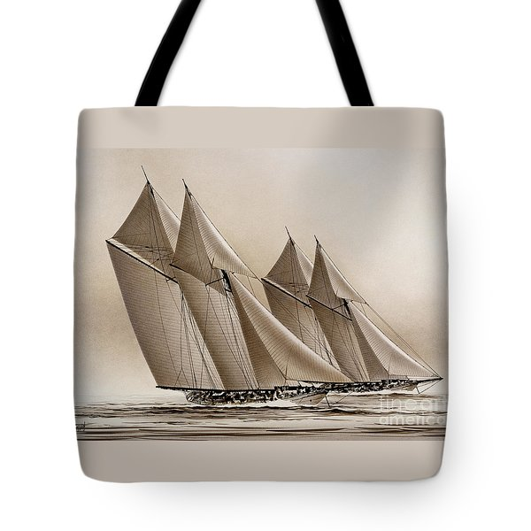 Racing Yachts Tote Bag by James Williamson