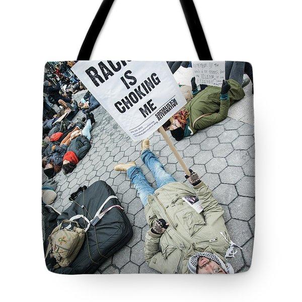 Racism Is Choking Me Tote Bag