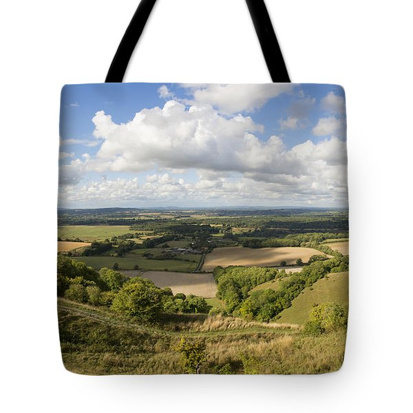 Rackham Hill To The North Downs Tote Bag by Hazy Apple