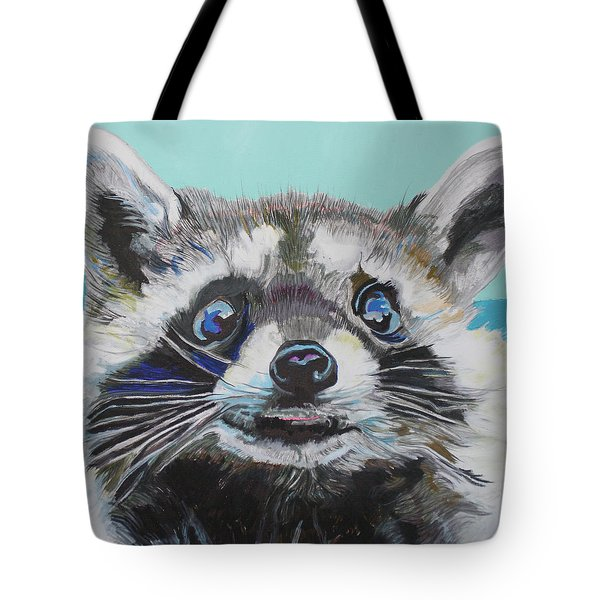 Racoon Tote Bag by Jamie Downs
