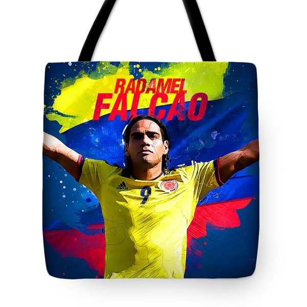 Radamel Falcao Tote Bag by Semih Yurdabak