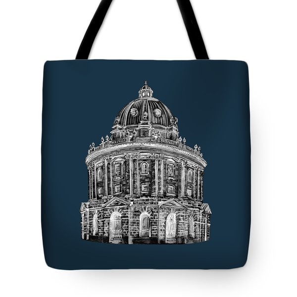 Tote Bag featuring the digital art Radcliffe At Night by Elizabeth Lock