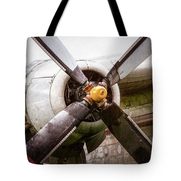 Tote Bag featuring the photograph Radial Engine And Prop - Fairchild C-119 Flying Boxcar by Gary Heller