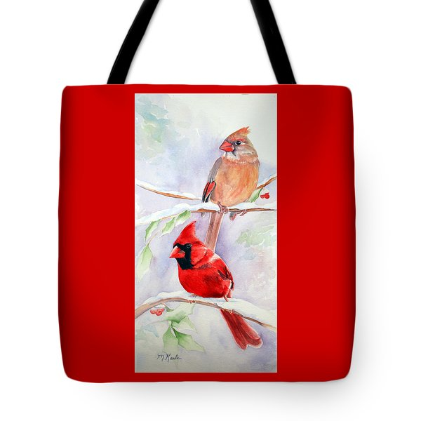Radiance Of Cardinals Tote Bag