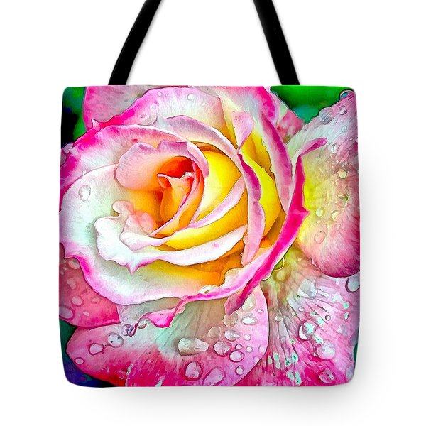 Radiant Rose Of Peace Tote Bag