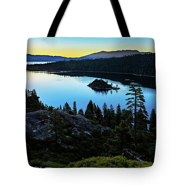 Tote Bag featuring the photograph Radiant Sunrise On Emerald Bay by John Hight
