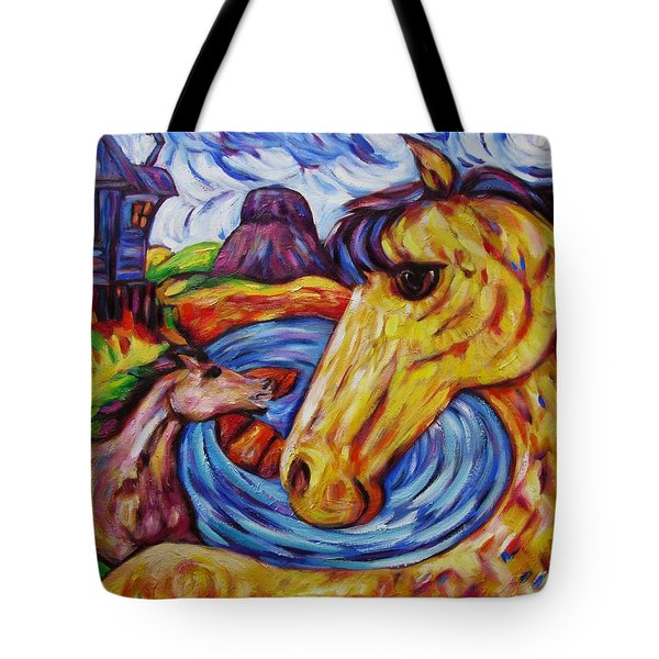 Radiant Sunshine Horse By The Sea Tote Bag