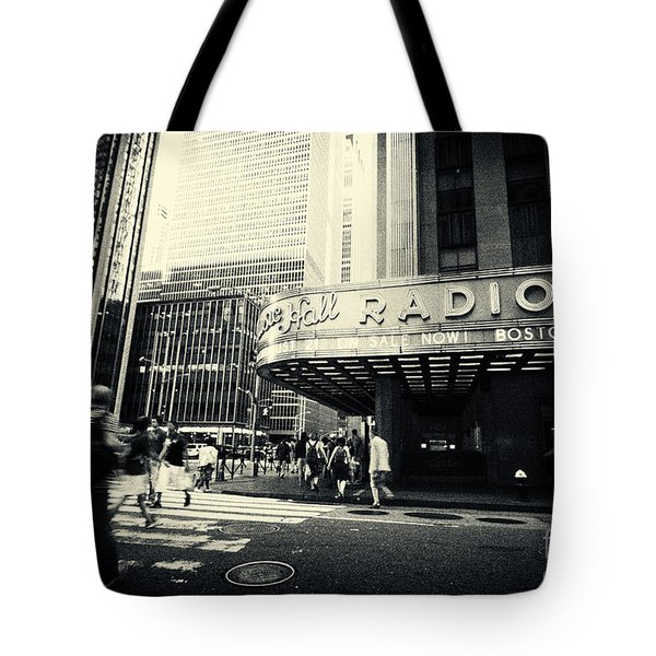 Radio City Music Hall Manhattan New York City Tote Bag