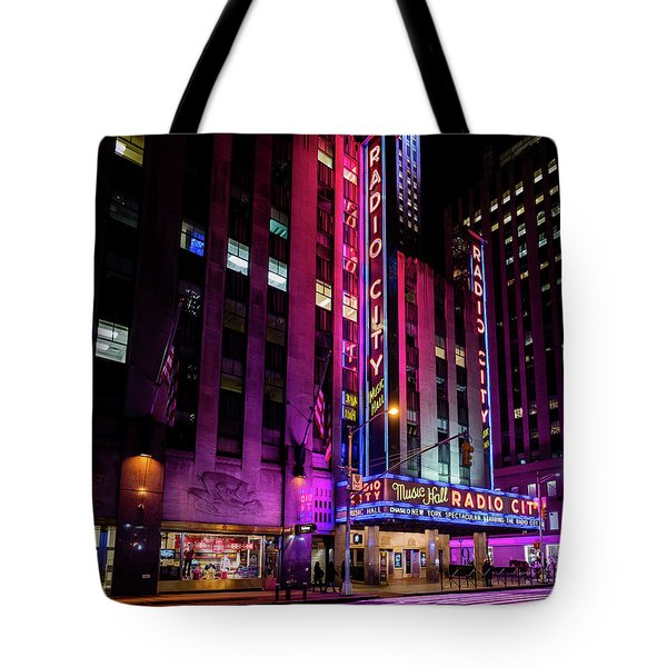 Tote Bag featuring the photograph Radio City Music Hall by M G Whittingham