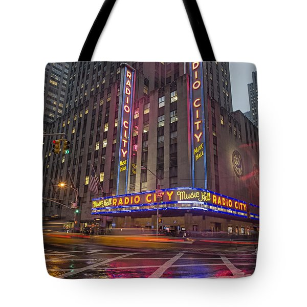 Tote Bag featuring the photograph Radio City New York  by Juergen Held