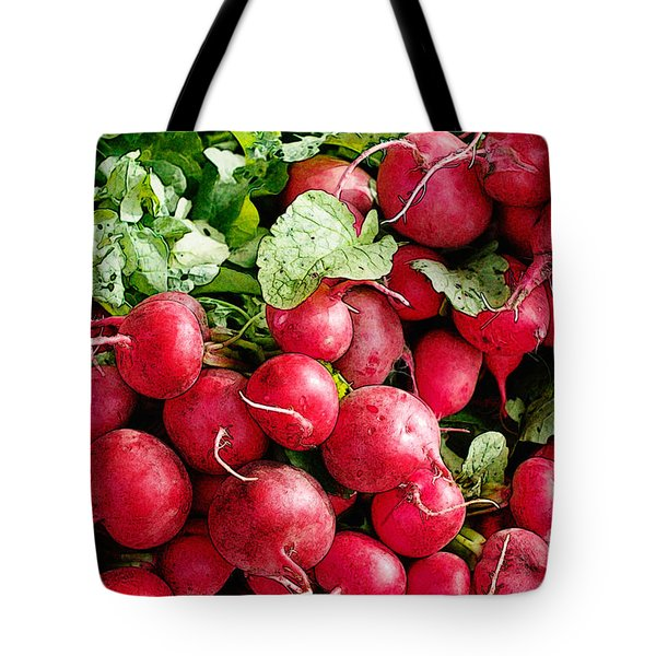 Tote Bag featuring the digital art Radishes 1 by David Blank