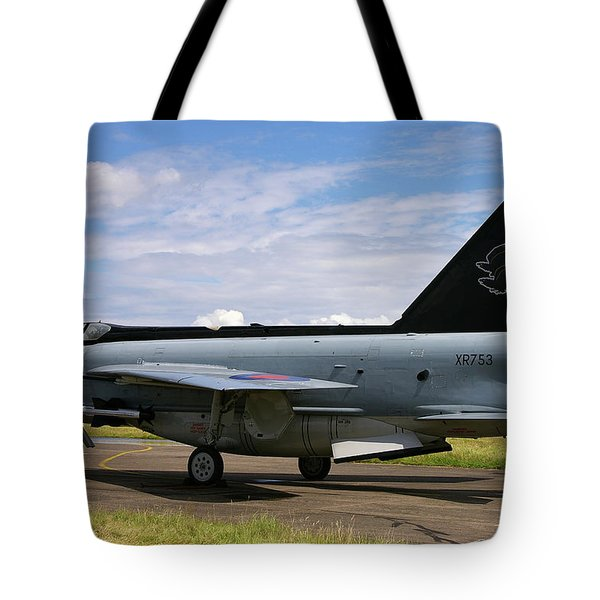 Raf English Electric Lightning F6 Tote Bag by Tim Beach