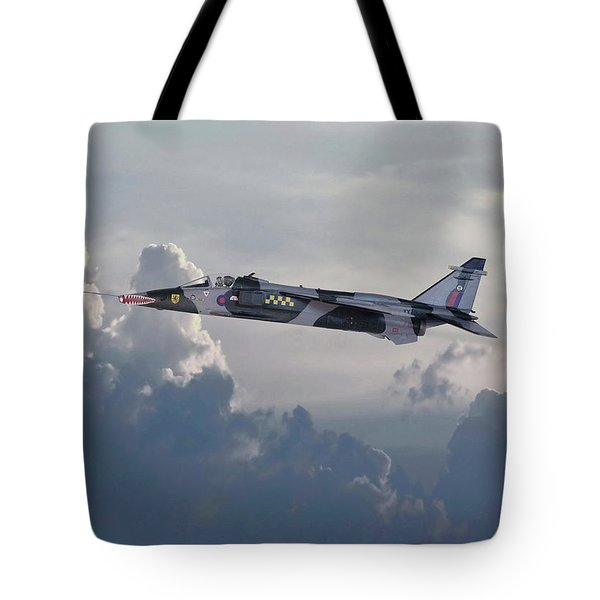 Tote Bag featuring the photograph Raf Jaguar Gr1 by Pat Speirs