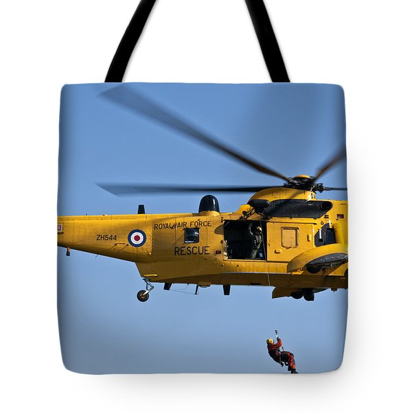 Raf Sea King Search And Rescue Helicopter 2 Tote Bag