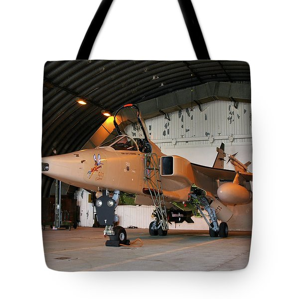 Raf Sepecat Jaguar Gr3a Tote Bag by Tim Beach