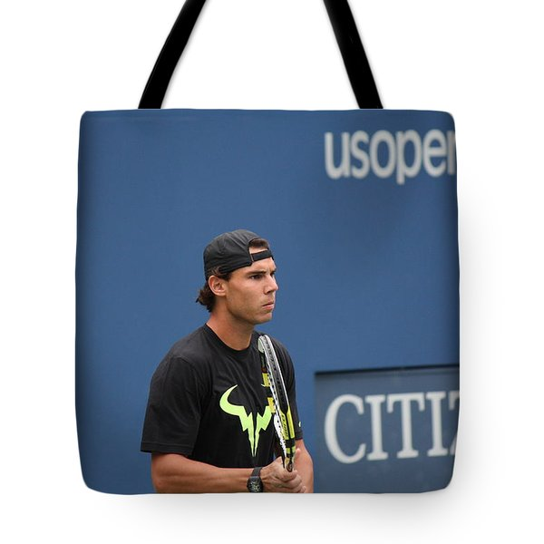 Tote Bag featuring the photograph Rafael Nadal by David Grant