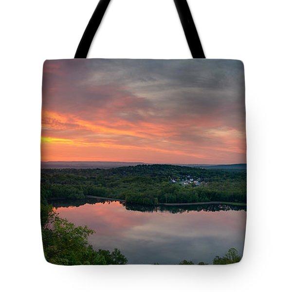 Ragged Mountain Sunrise Tote Bag