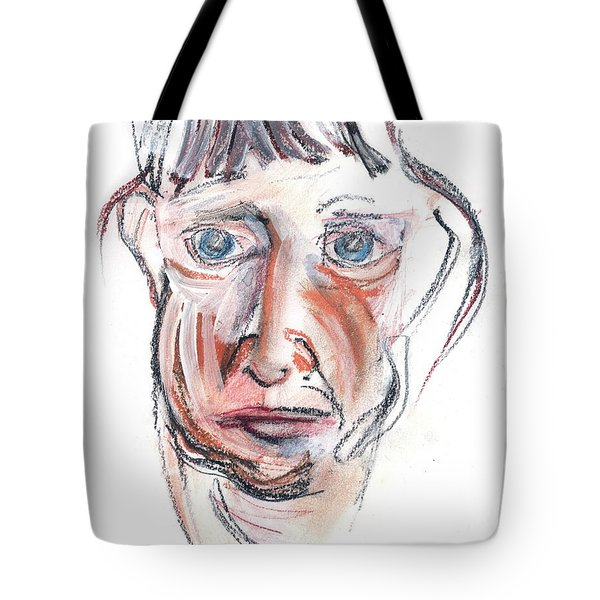 Raggedy Selfie Tote Bag by Carolyn Weltman