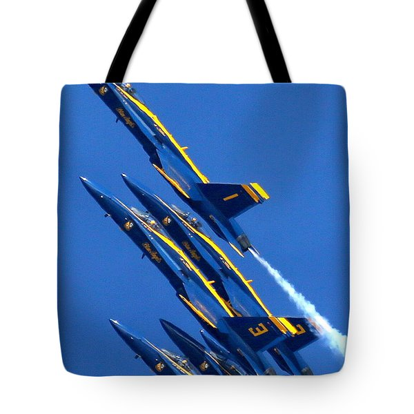 Raging Heap Of Blue And Yellow Tote Bag