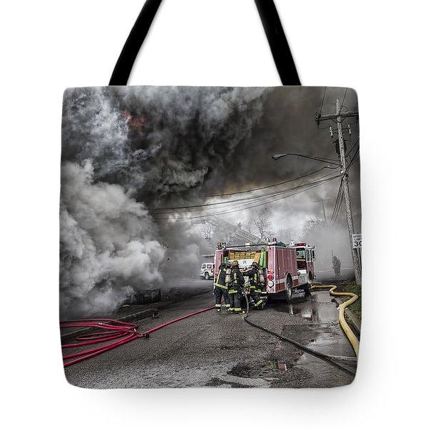 Raging Inferno Tote Bag