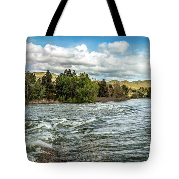Raging Payette River Tote Bag by Robert Bales