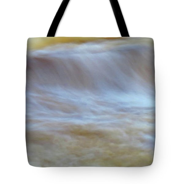 Tote Bag featuring the digital art Raging River by Kathleen Illes