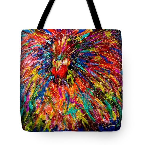 Raging Rooster Tote Bag