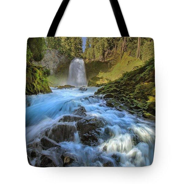 Raging Sahalie Falls Tote Bag by David Gn
