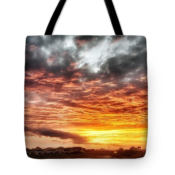 Raging Sunset Tote Bag