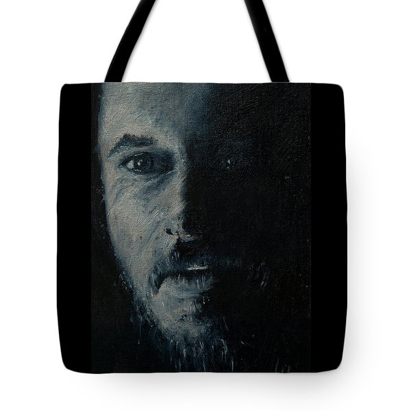Tote Bag featuring the painting Ragnar by Lynn Hughes