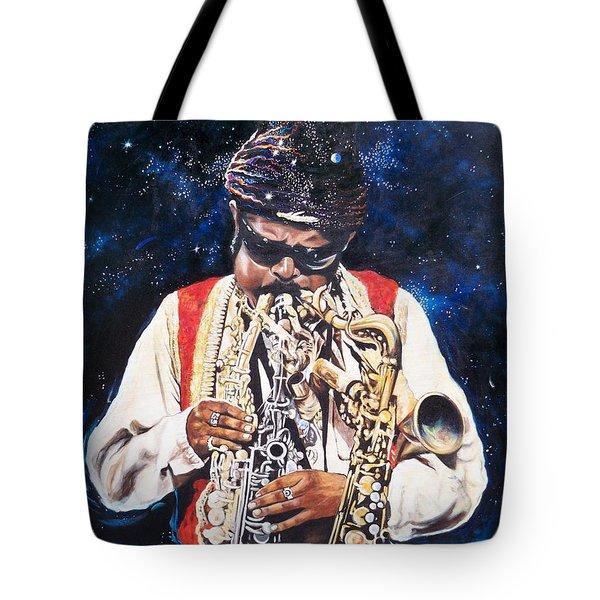 Rahsaan Roland Kirk- Jazz Tote Bag by Sigrid Tune