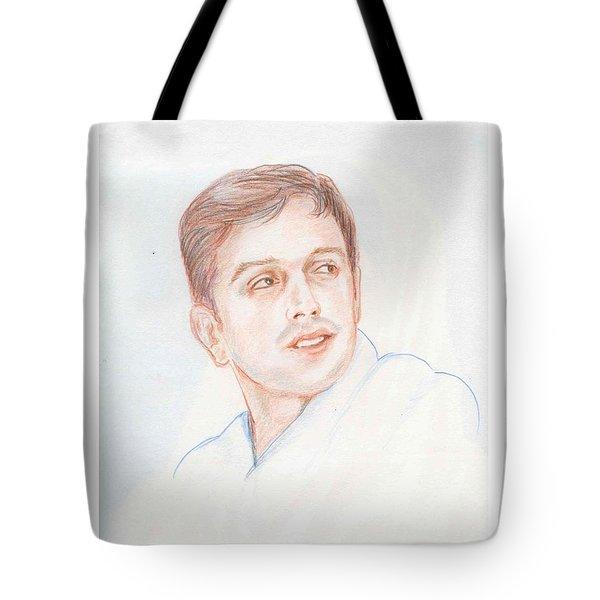 Rahul Dravid  Indian Cricketer Tote Bag