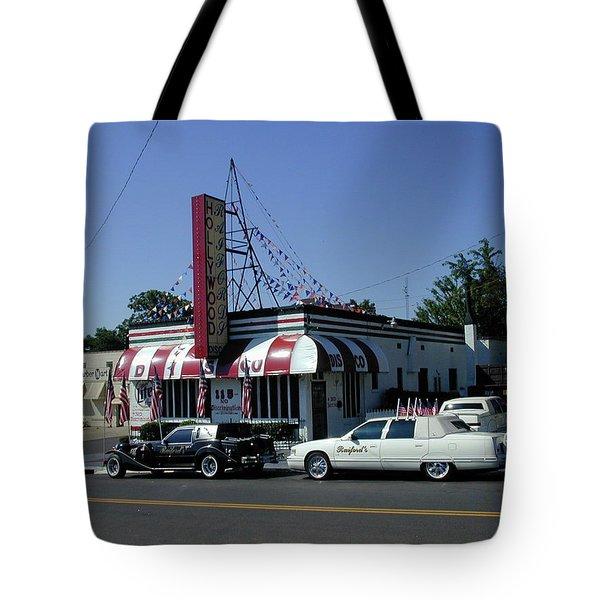 Tote Bag featuring the photograph Raifords Disco Memphis A by Mark Czerniec