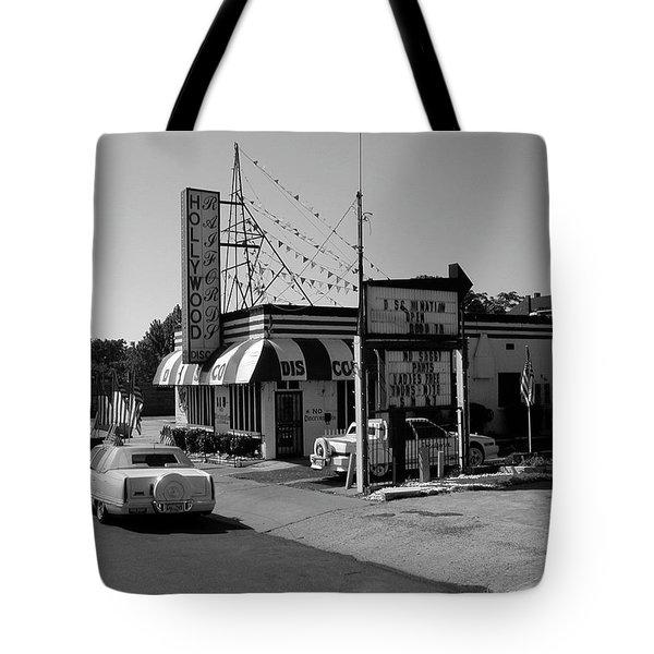 Tote Bag featuring the photograph Raifords Disco Memphis B Bw by Mark Czerniec