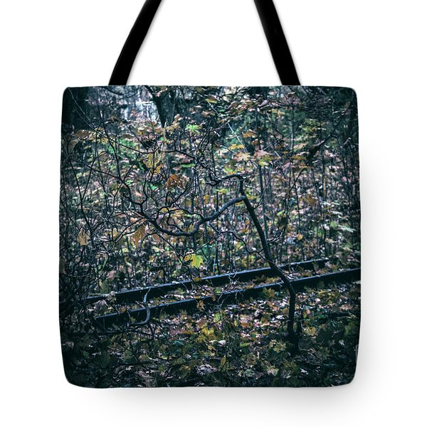 Tote Bag featuring the photograph Rail by Ana Mireles