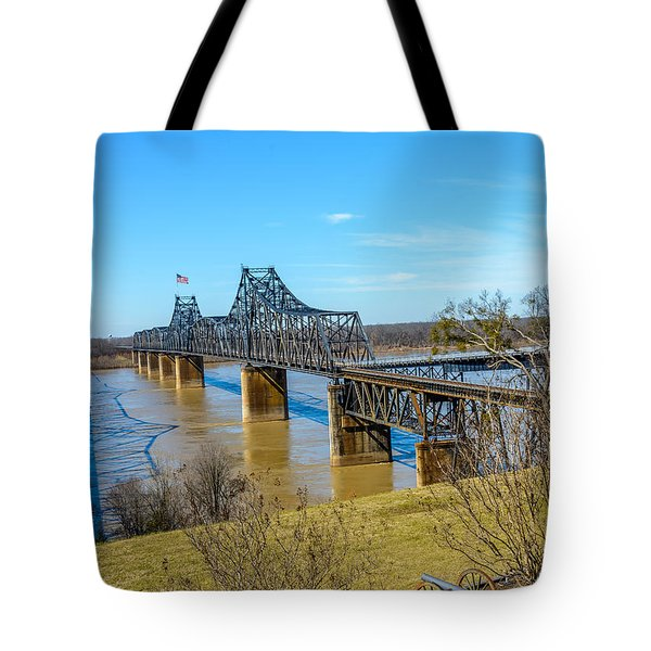 Rail Road Bridge Tote Bag by Jerry Cahill