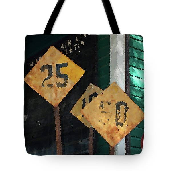 Tote Bag featuring the photograph Rail Road Signs by Randy Sylvia