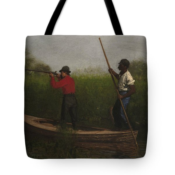 Rail Shooting On The Delaware Tote Bag