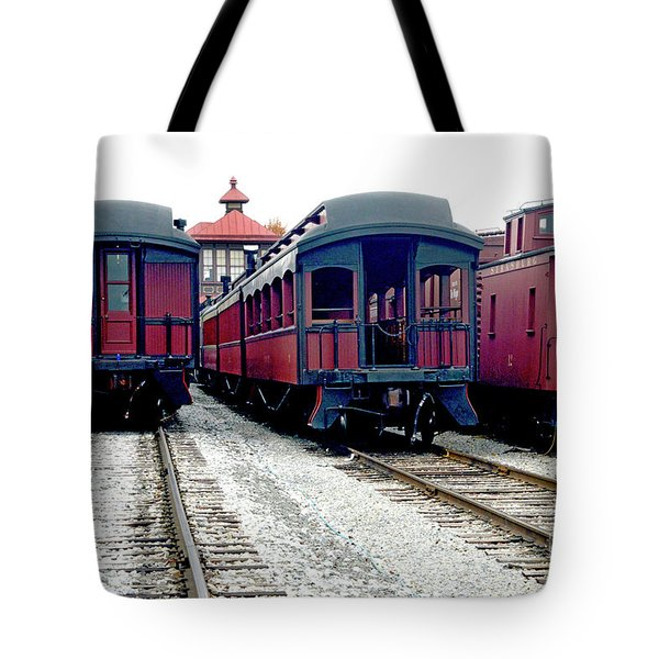 Tote Bag featuring the photograph Rail Stock by Paul W Faust - Impressions of Light