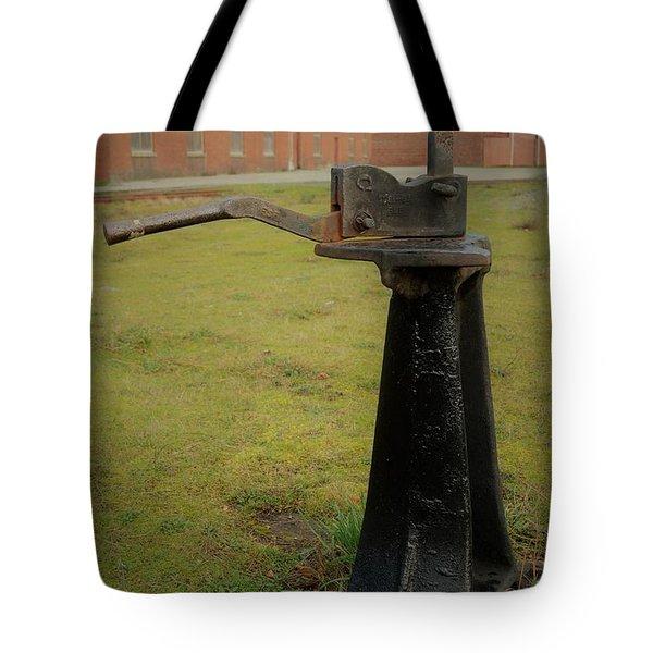 Rail Track Switch Tote Bag