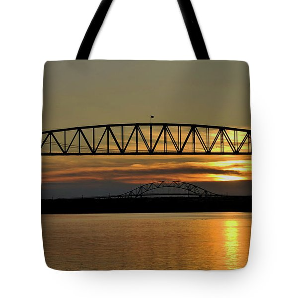 Railroad Bridge Over The Canal Tote Bag