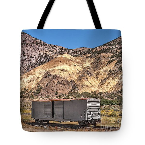 Tote Bag featuring the photograph Railroad Car In A Beautiful Setting by Sue Smith